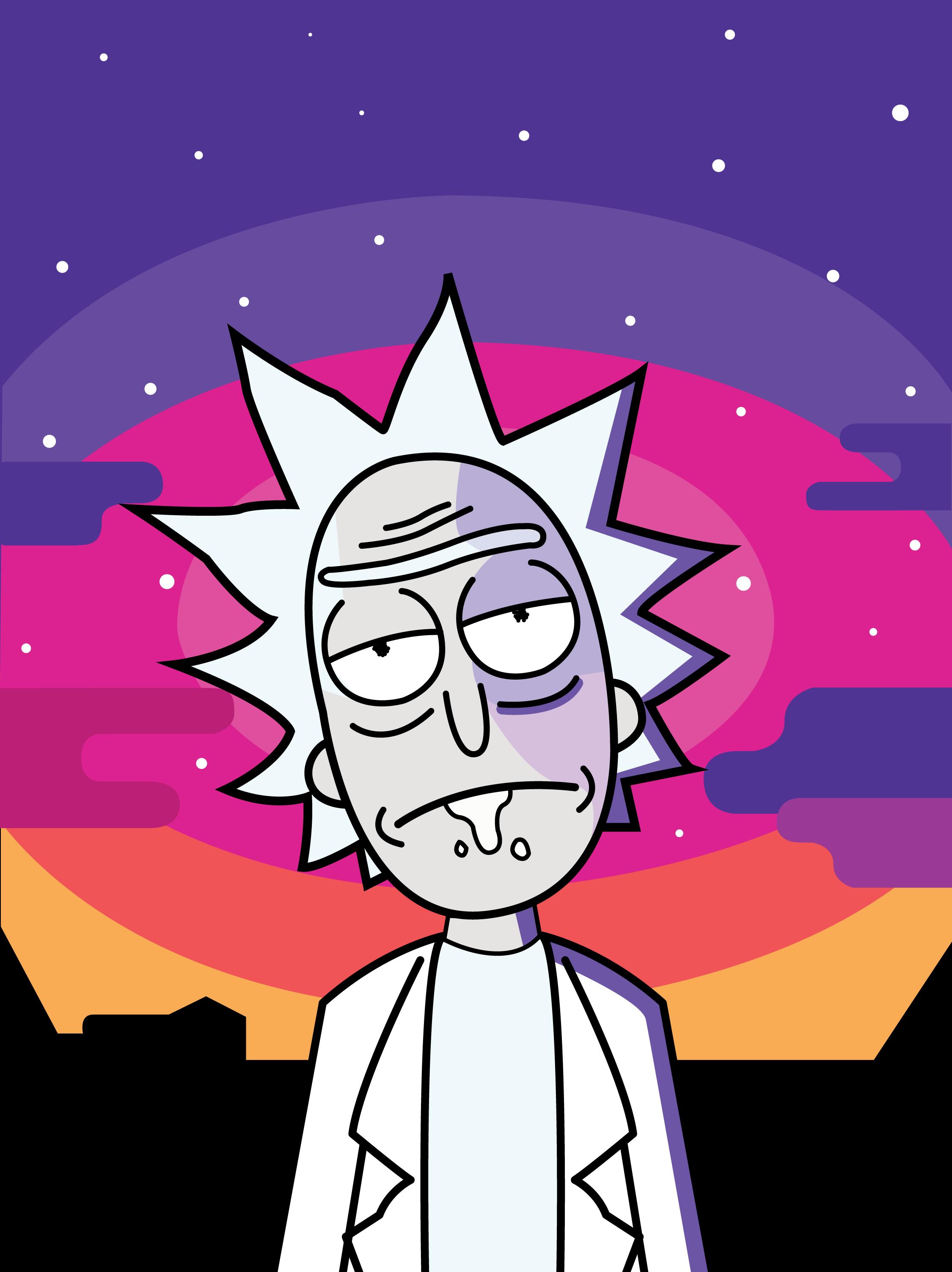 New android Wallpaper Rick and Morty Kezanaricom 2250x3004
