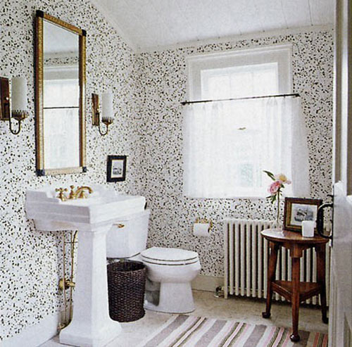 So what do you think would you wallpaper the bathroom or not 500x493