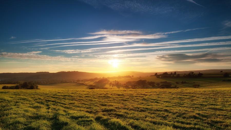 Sun Rising Over Country Hills 4K Ultra HD Desktop Wallpaper 900x506