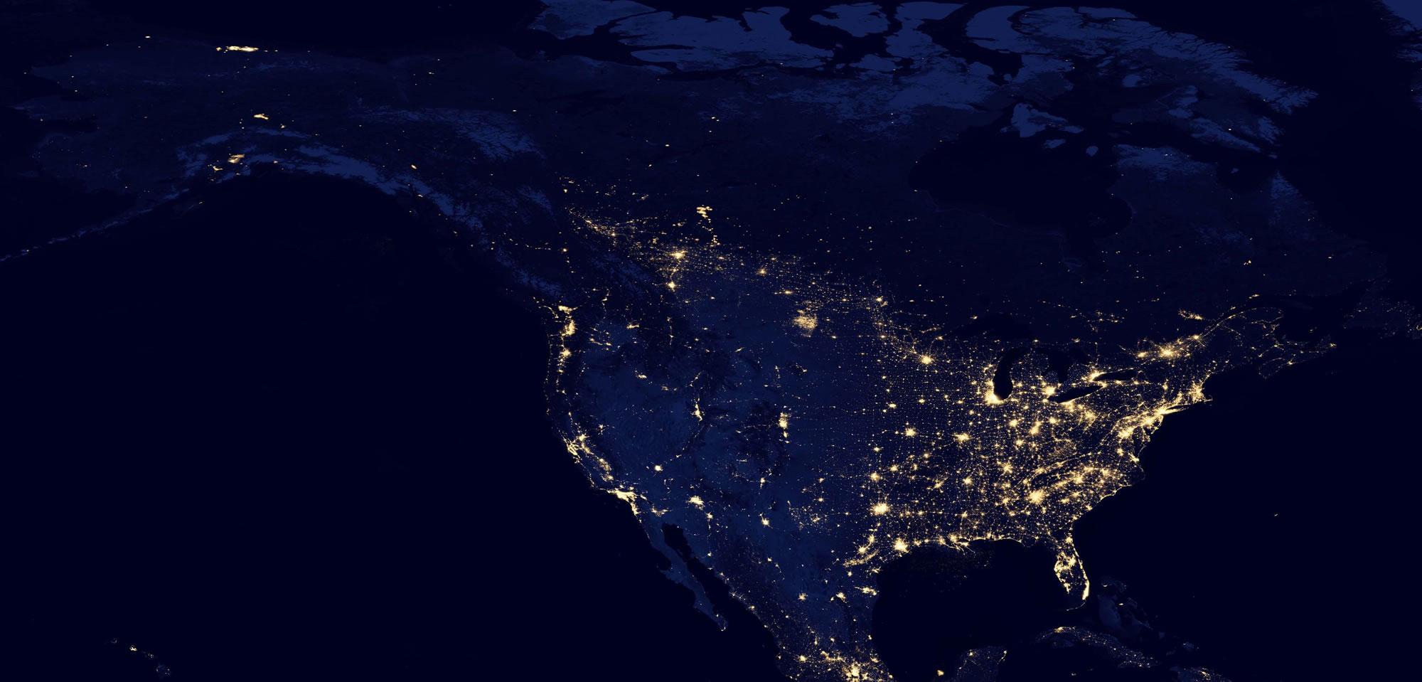 Night Satellite Photos Earth US Europe Asia World 2000x959