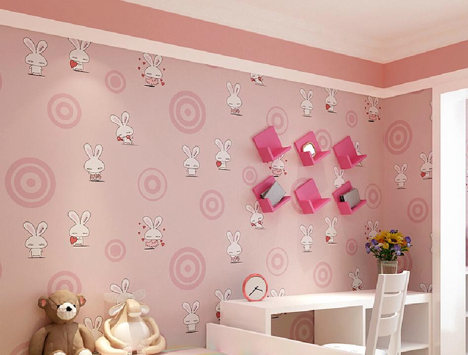 Korean style girls pink bedroom wallpaper cartoon   3D house  Free 3D. Pink Wallpaper for Girls Room   WallpaperSafari