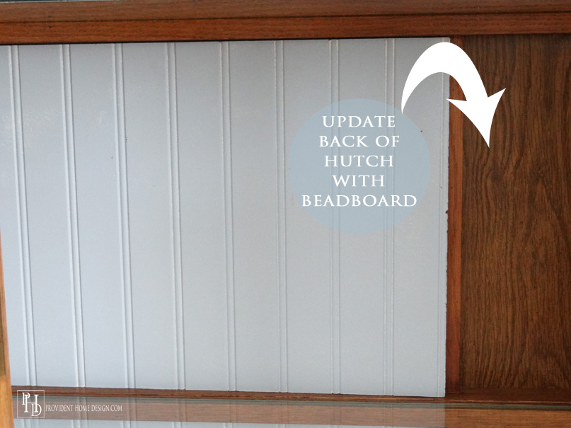 You can beadboard wallpaper stencil or just paint the back of the 807x605