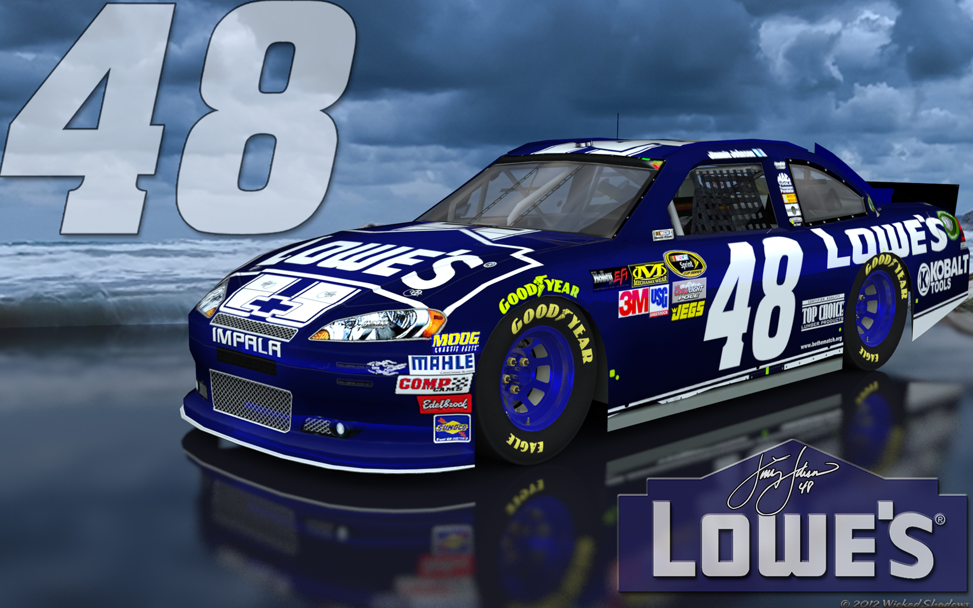 Jimmie Johnson Lowes 48 Brighter Outdoor Wallpaper 2000x1251