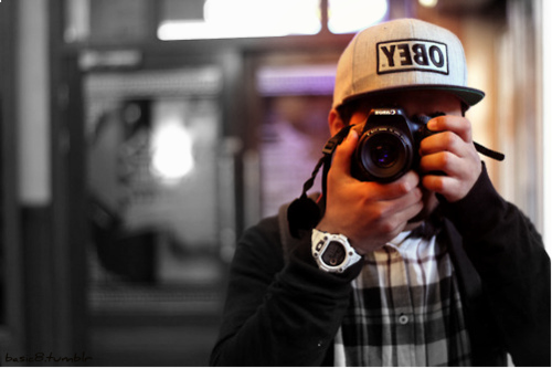 Supreme obey Snapback boy with camera swag picture from tumblr 500x333