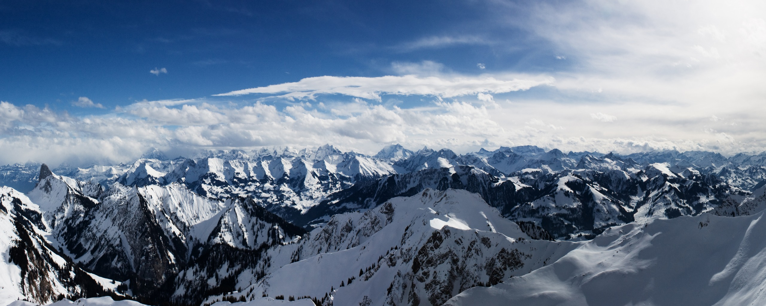 Alps Mountains Dual Monitor Wallpapers HD Wallpapers 2560x1024