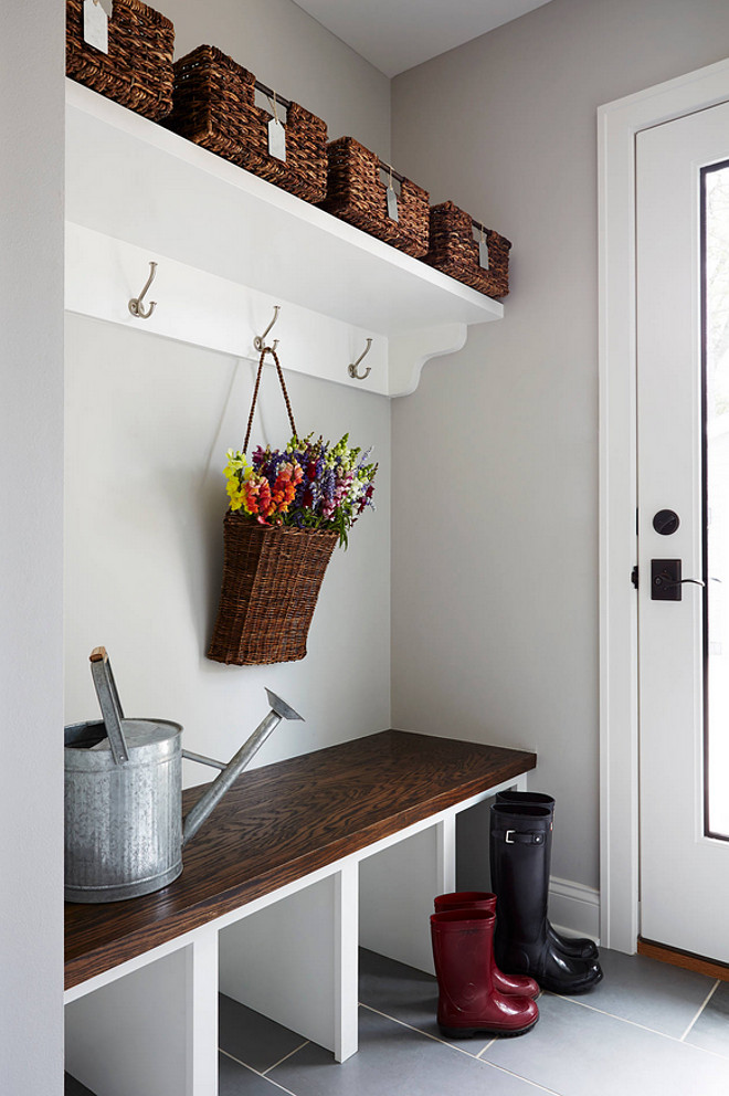 The mud room paint color is Benjamin Moore HC 170 Stonington Gray The 660x992