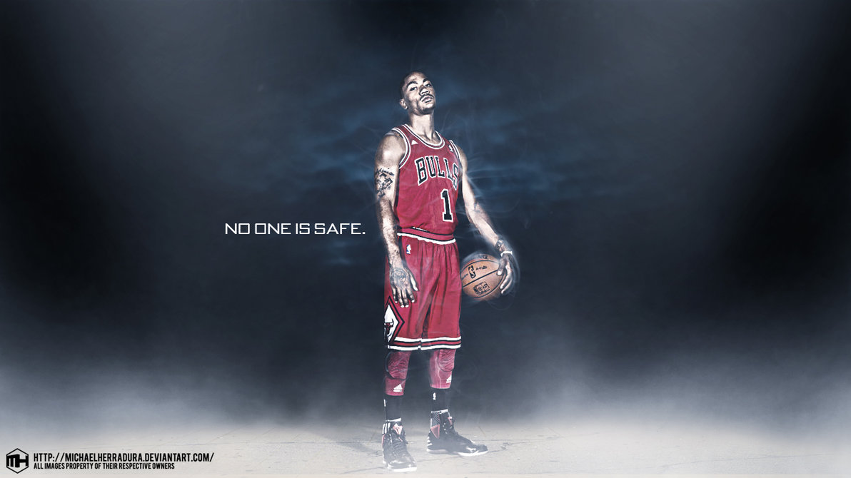 Derrick Rose NO ONE IS SAFE wallpaper by michaelherradura on 1192x670