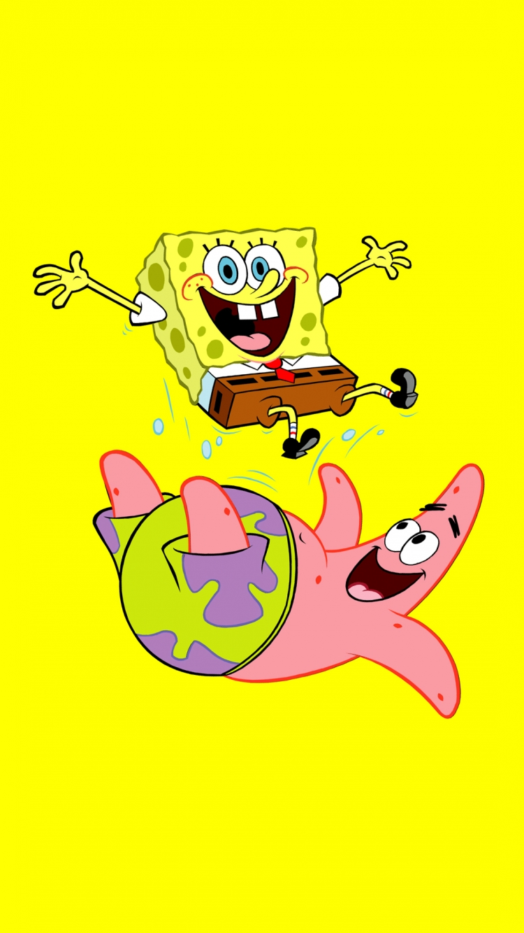Get Funny SpongeBob And Patrick Best htc one wallpapers and easy 750x1334