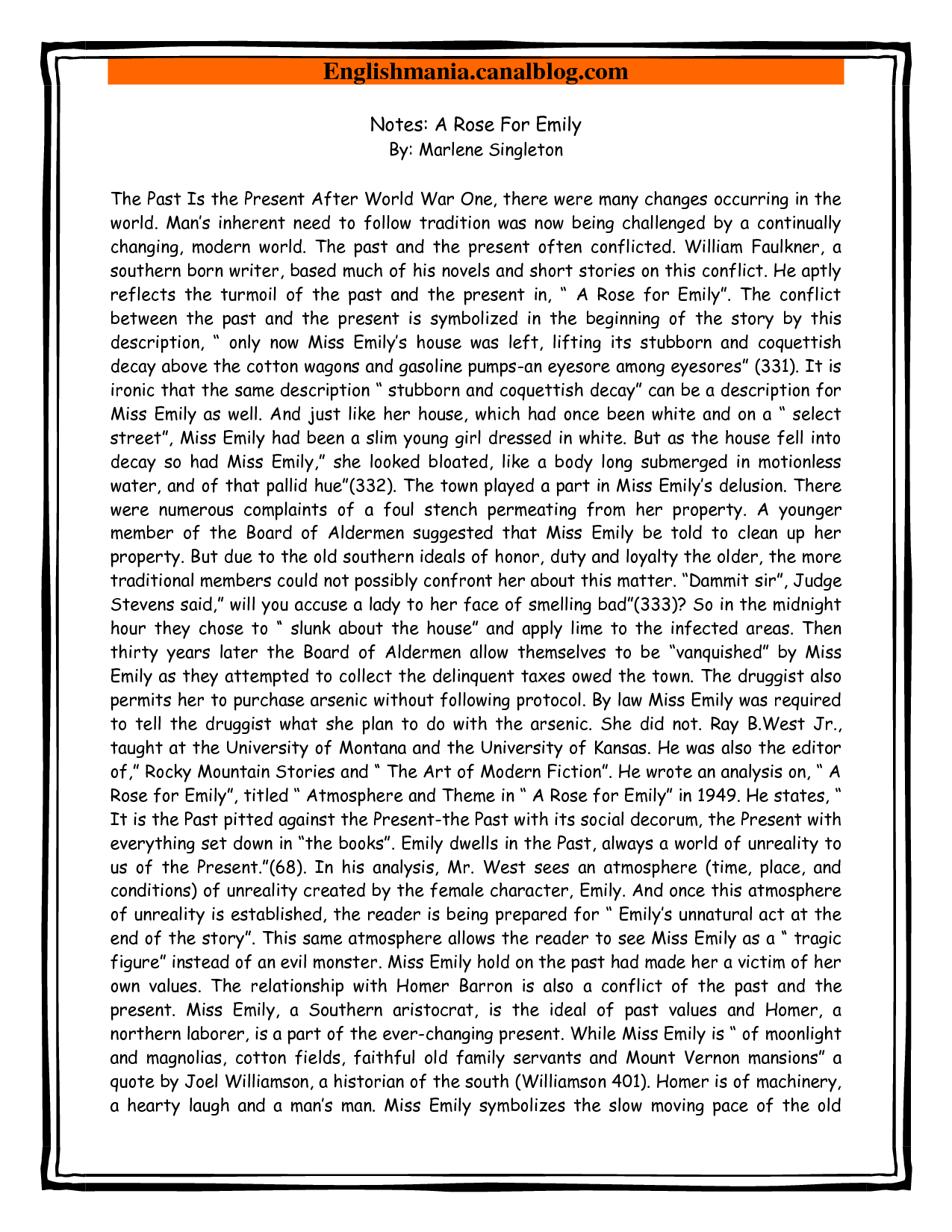 Tradition essay