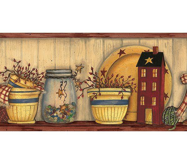 wallpapercomphotocountry kitchen wallpaper borders23html 600x525