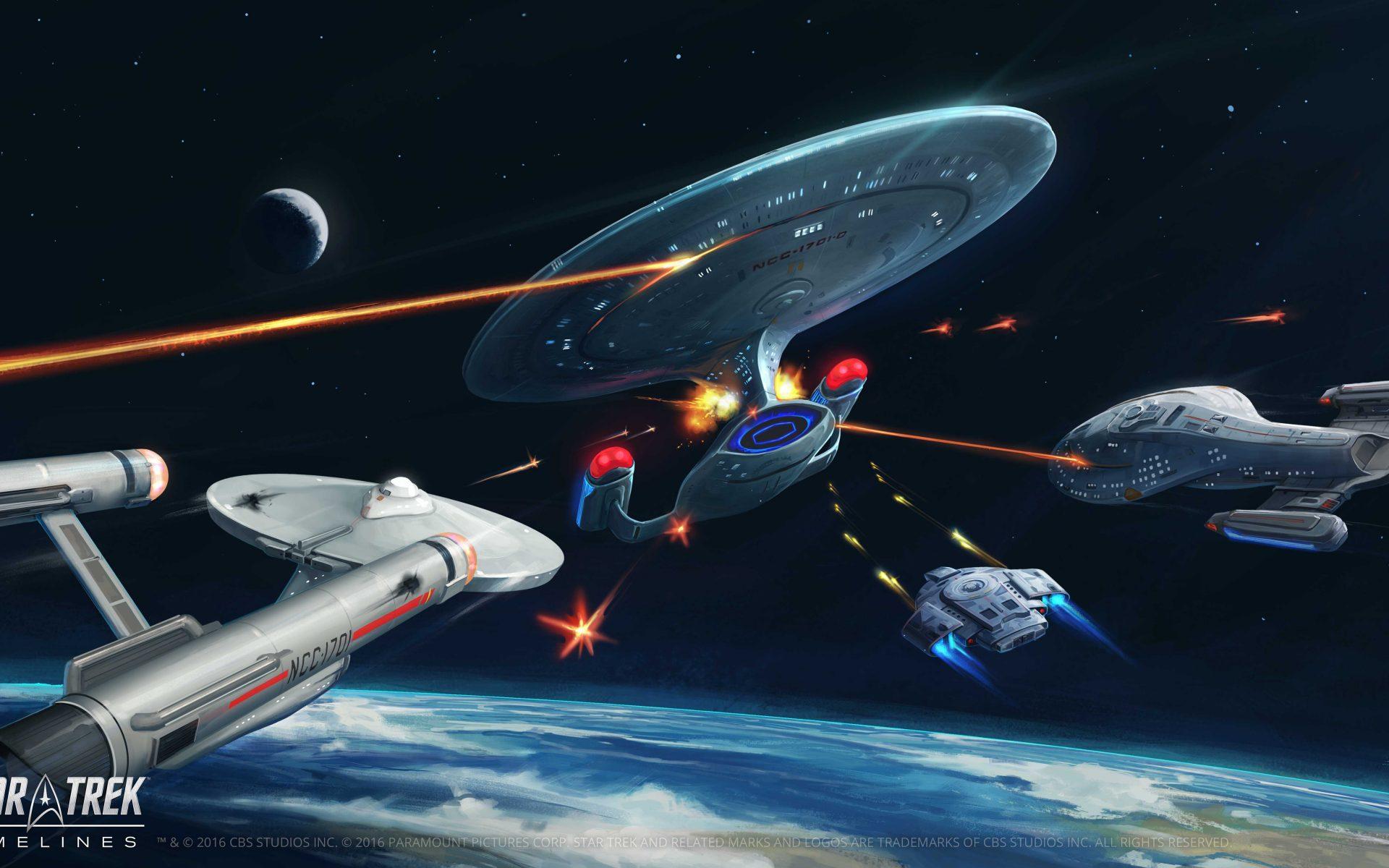 Star Trek Timelines Ship Battle Wallpaper Widescreen Hd 1920x1200