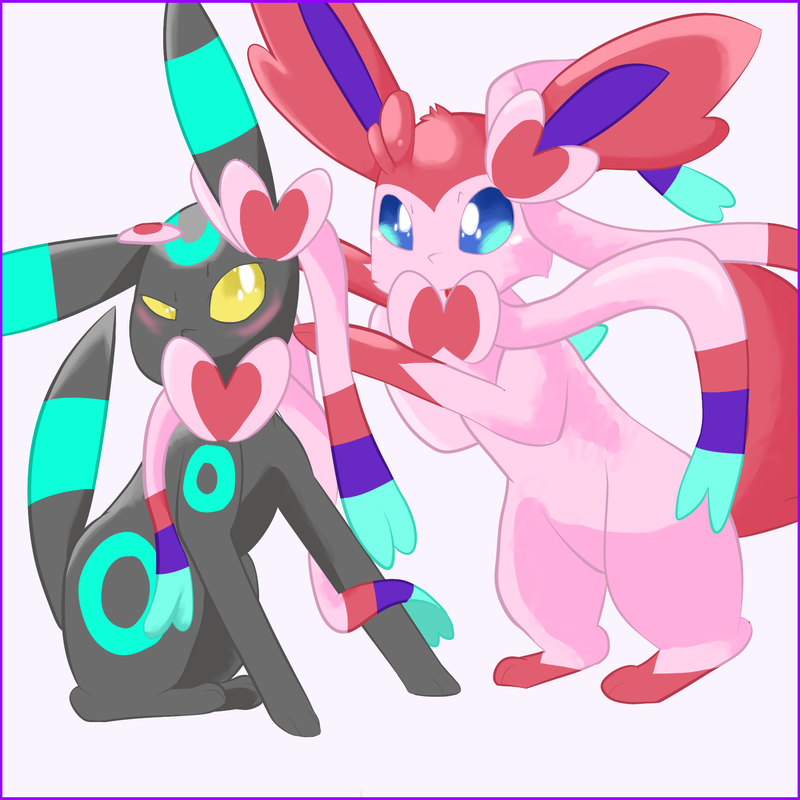 Sylveon and Umbreon  Bound By the Bow Eevee Know Your Meme 800x800