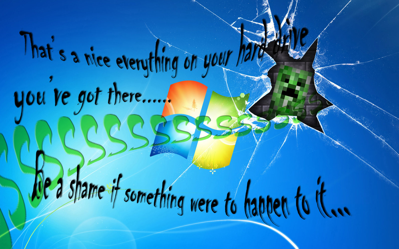 Windows Creeper Attack by yumenightfire27 1600x1000
