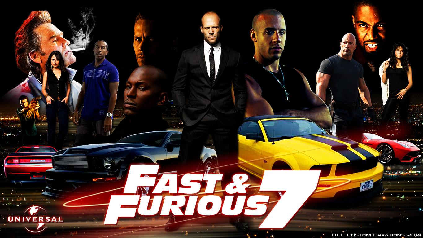 Fast And Furious 7 Universal Poster HD Wallpaper   Stylish HD 1366x768