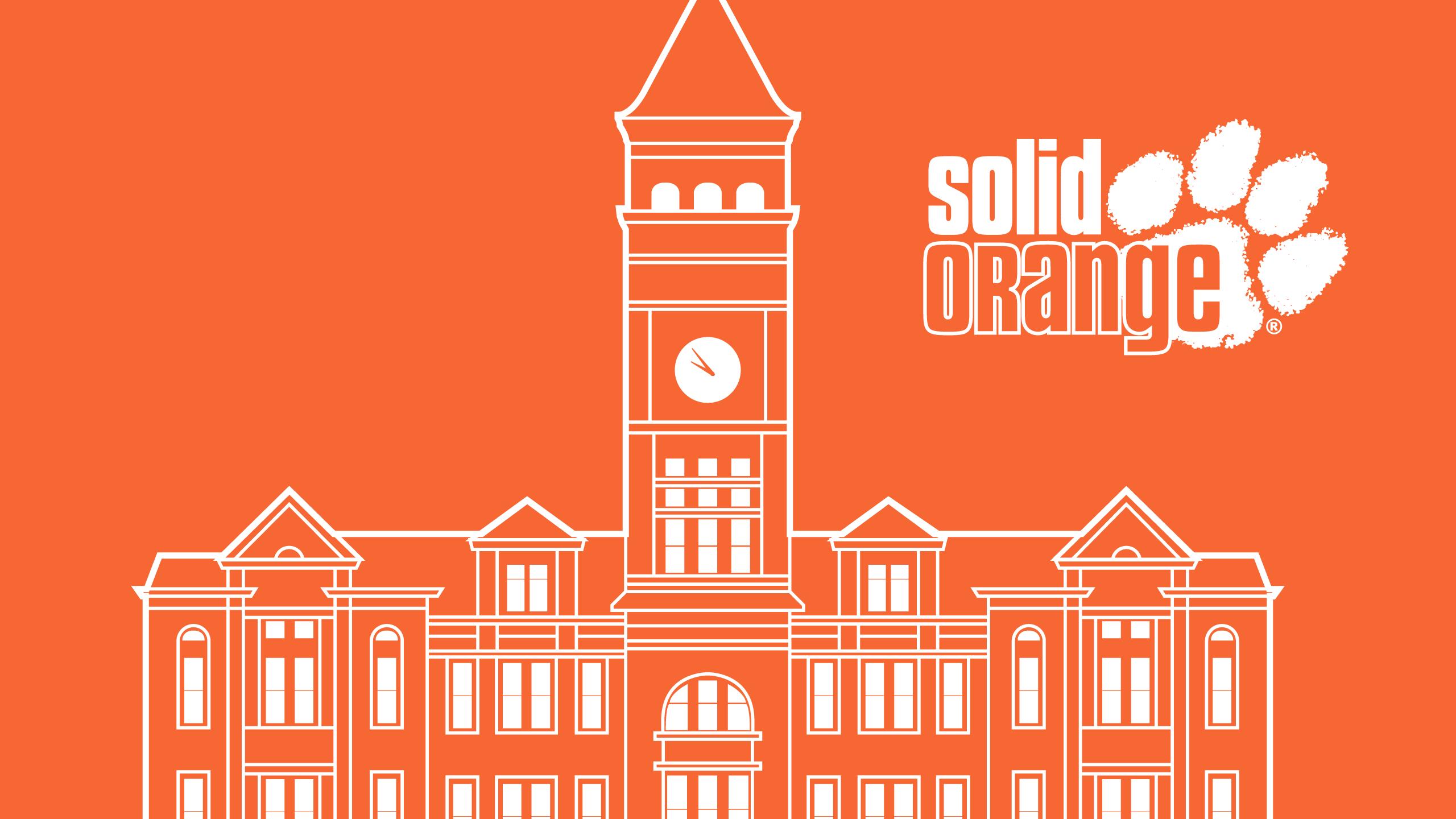 Clemson University Solid Orange 2560x1440