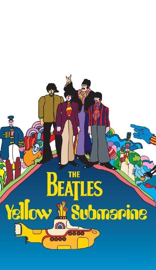 Yellow Submarine Phone Wallpaper Phone Wallpapers Yellow 549x946