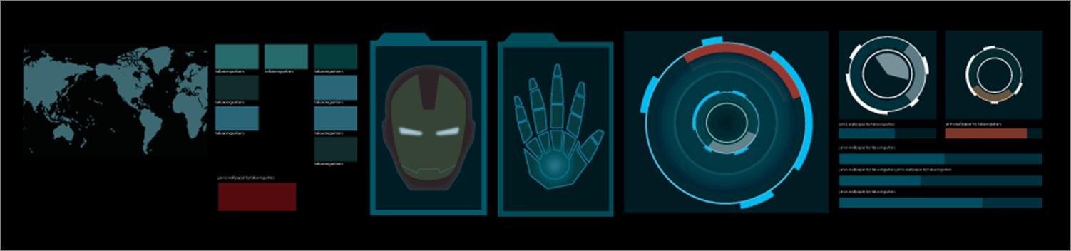 xwidget   jarvis themed animated dashboard by iAmAneleBiscarra on 1502x352