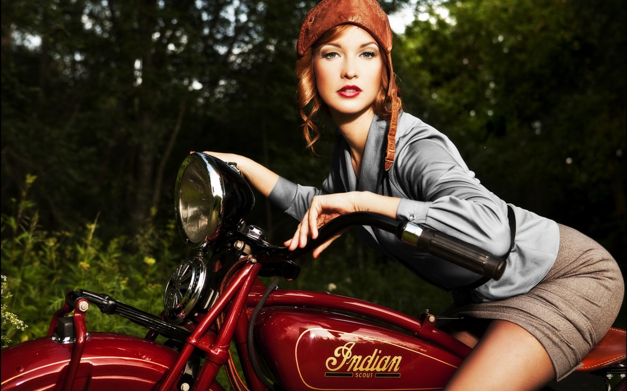 Motorcycle Women Wallpaper - WallpaperSafari