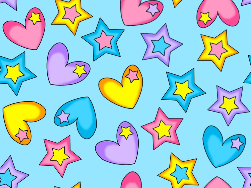 Stars and Hearts Wallpaper - WallpaperSafari