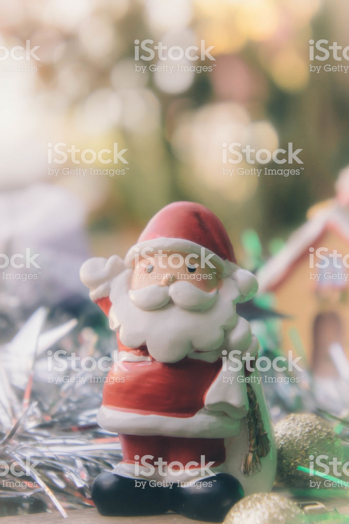 Santa Claus And Chirstmas Background Stock Photo   Download Image 681x1024