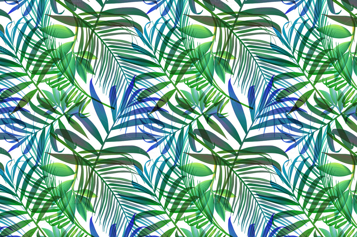 Tropical pattern Jungle palm leaves Patterns on Creative Market 1160x772