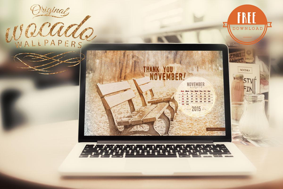 November 2015 Wallpaper Calendar by WOCADO - FREE Download