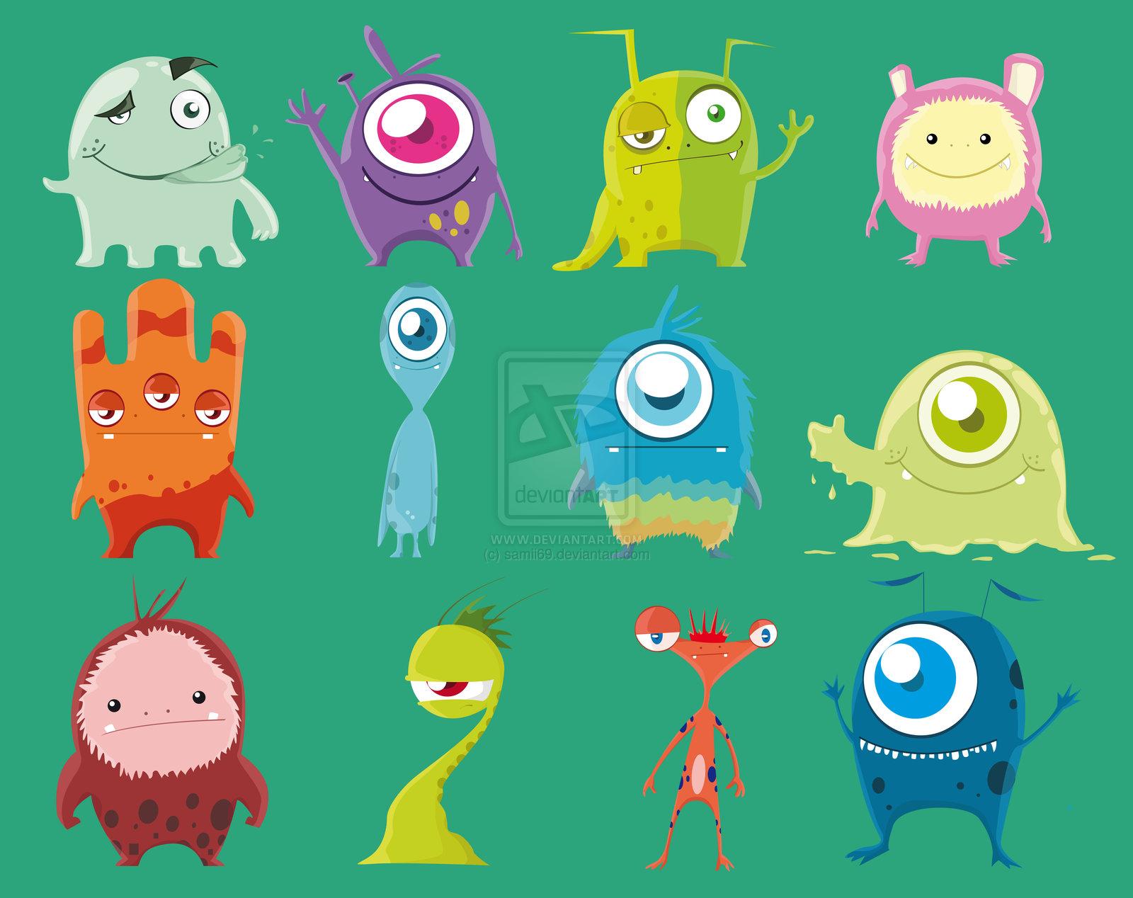 Cute Animated Monster Wallpaper