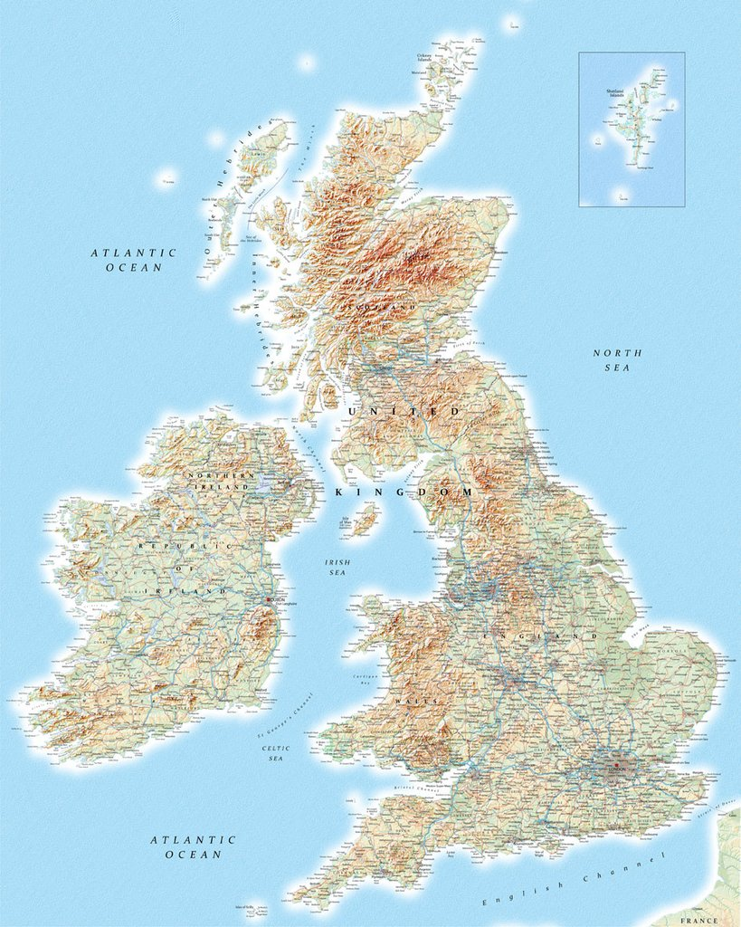 Map Wallpaper   British Isles from Love Maps On 819x1024