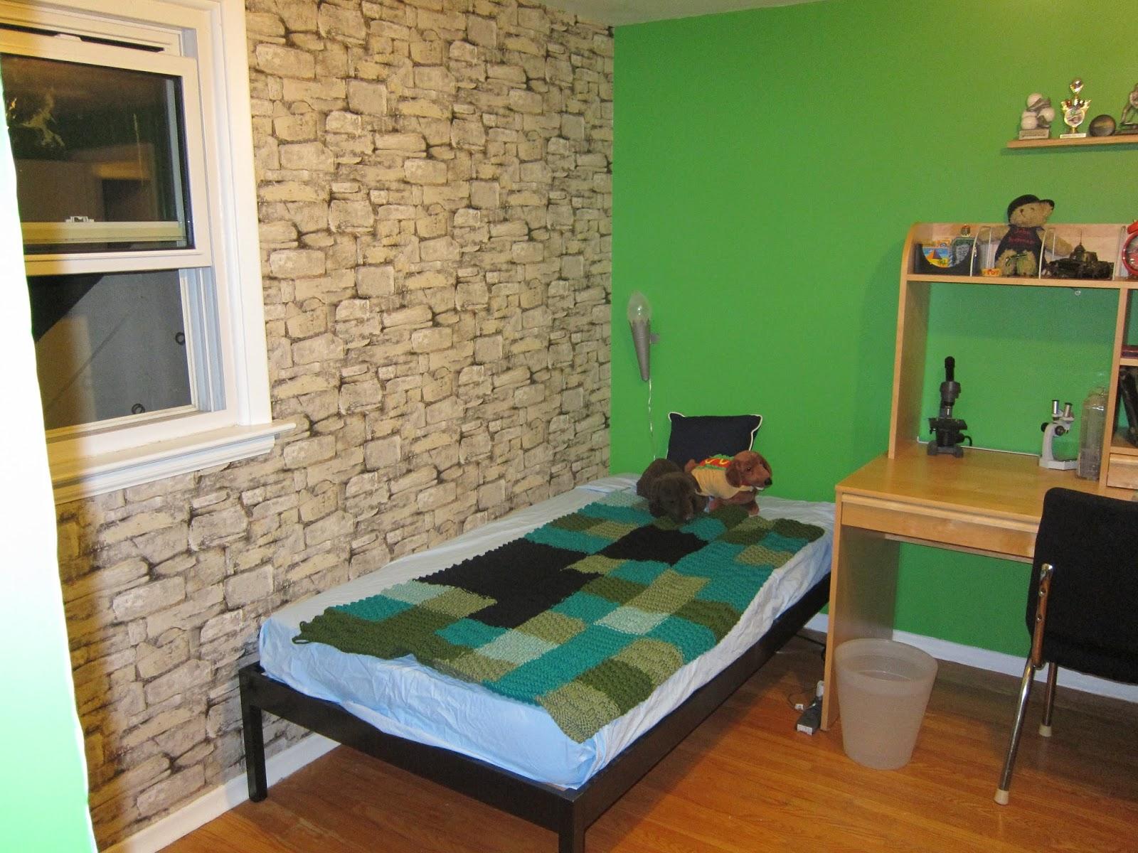 Minecraft Bedroom Wallpaper Wall paper from rona 1600x1200