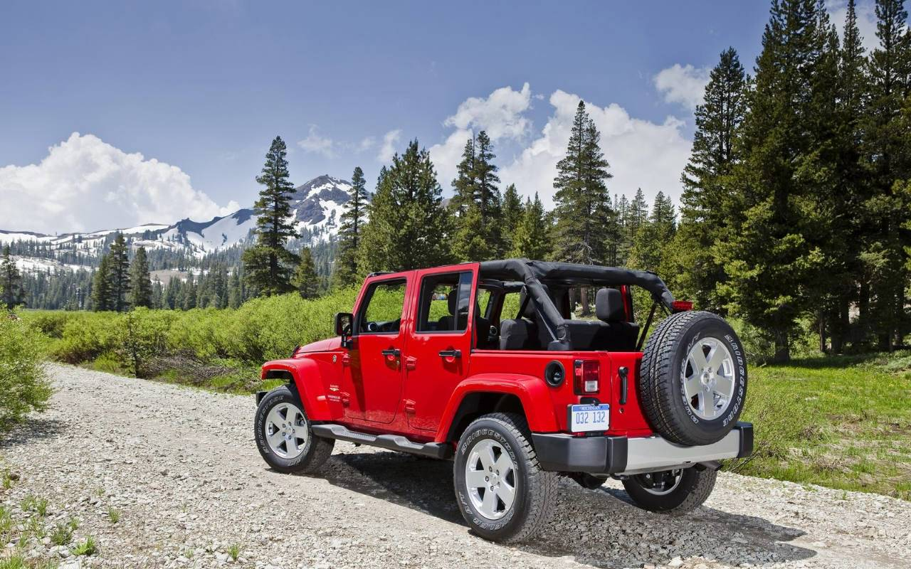 jeep wrangler wallpaper hd red Auto Motor Sport Wallpaper HD 1280x800