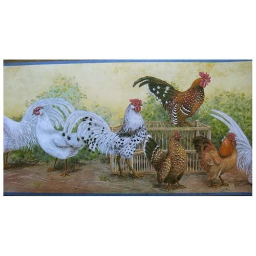 Waverly Chickens Rooster Wallpaper Border   Rakutencom 500x500