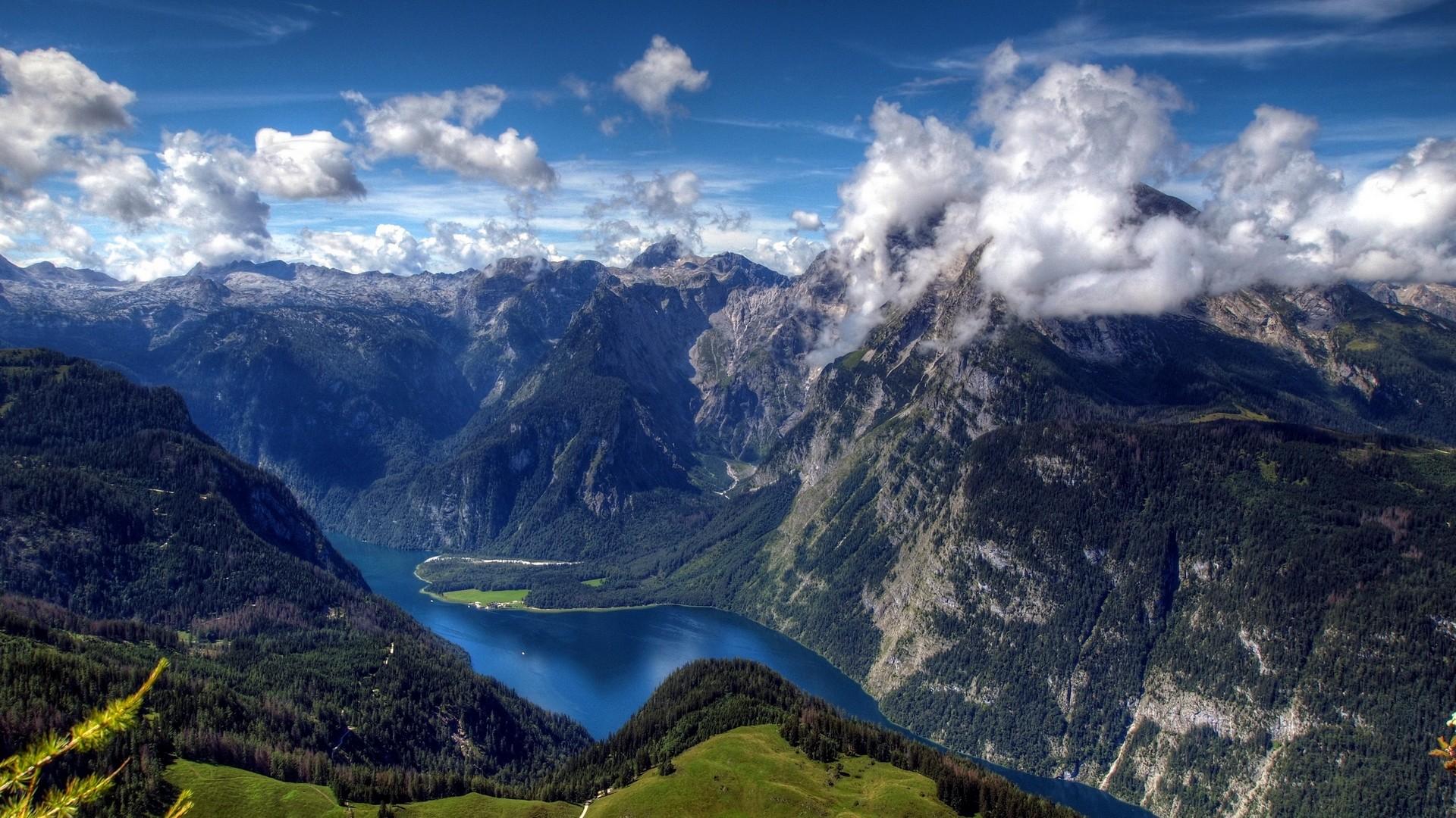 Download 1920x1080 Norwegian Mountains Overlook Wallpaper 1920x1080