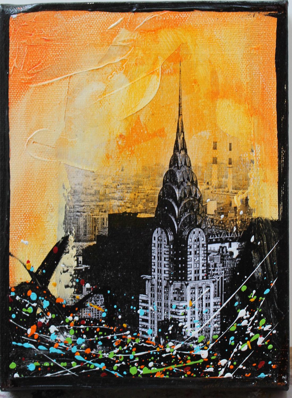 Chrysler Building Painting by kremenart Bright 1100x1500
