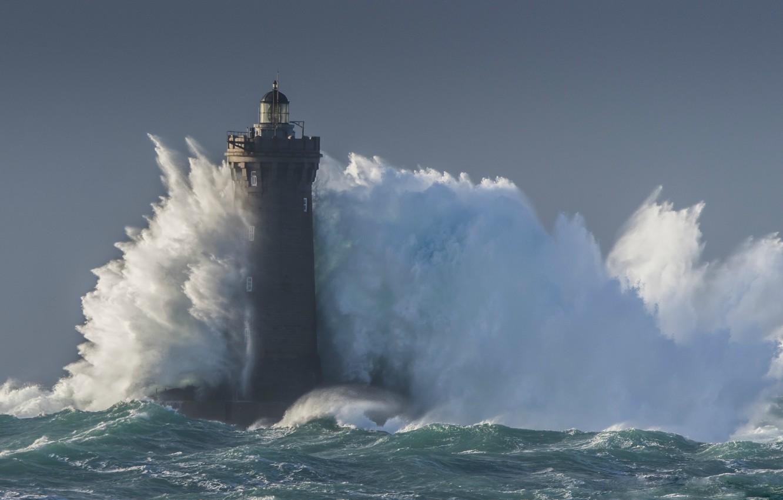 Wallpaper sea storm wave lighthouse storm sea blue wave 1332x850