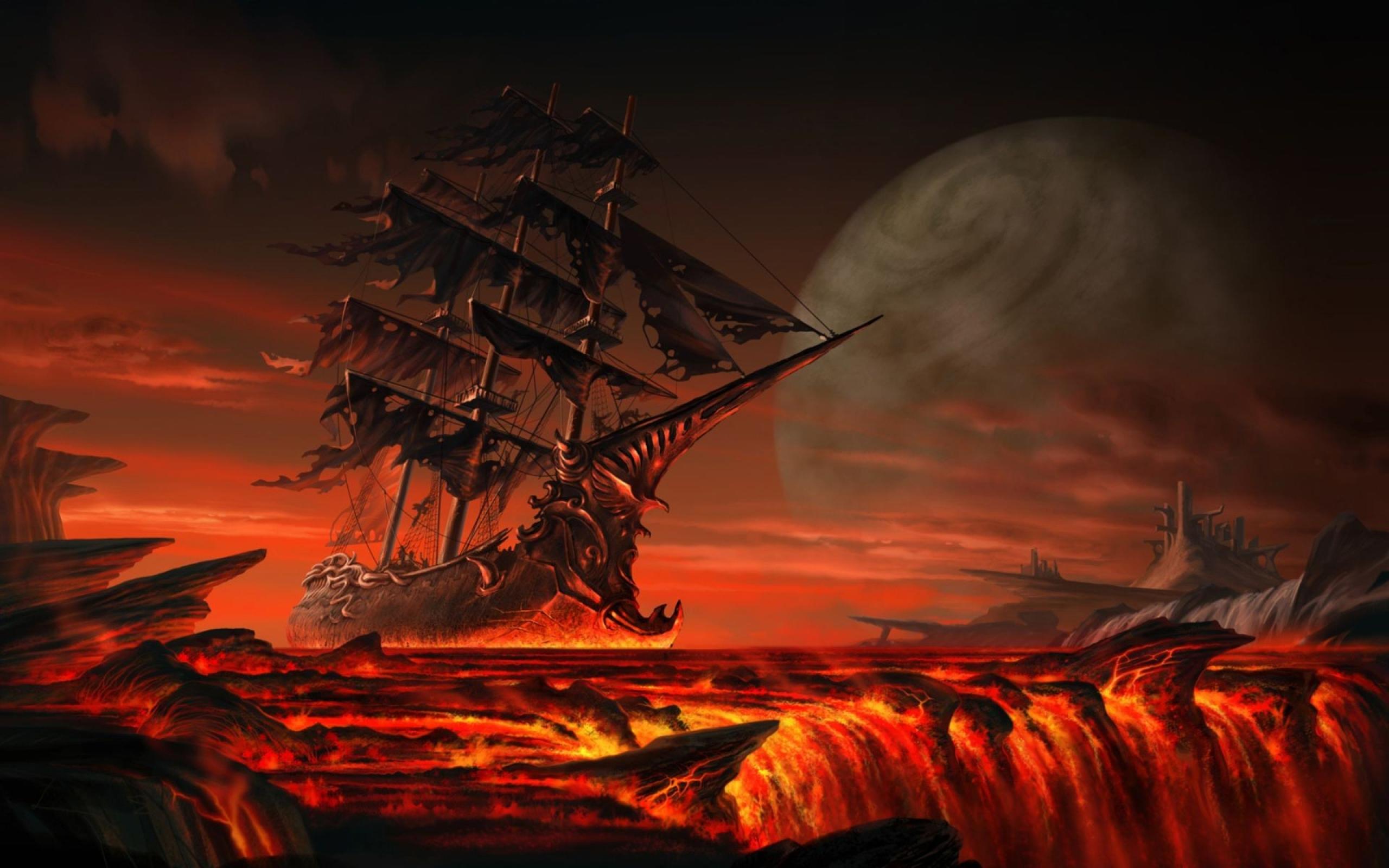 fantasia de navio navio fantasma From Hell Vetor   ForWallpapercom 2560x1600