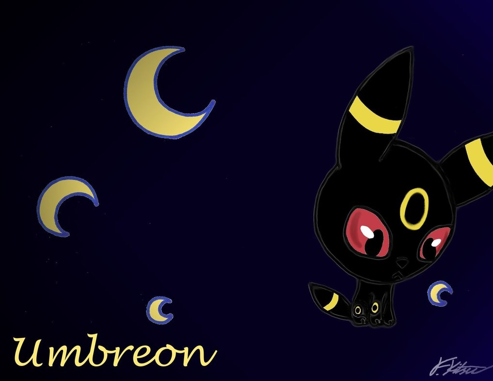 Chibi Umbreon Wallpaper by Flareonsk8r 1017x785