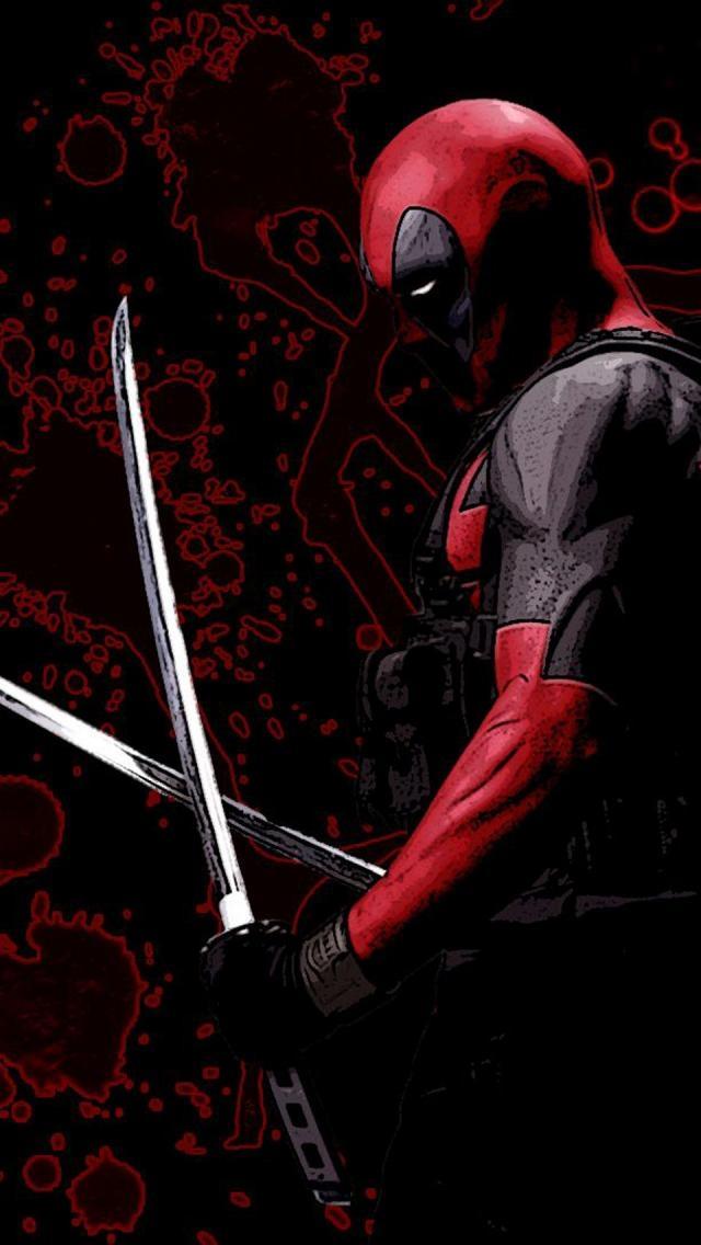 Deadpool Sword iPhone 5 Wallpaper 640x1136 640x1136