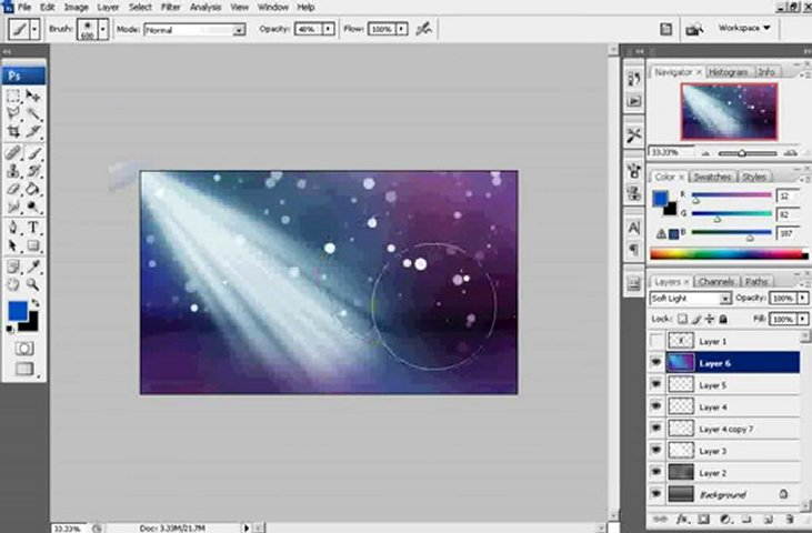 Create colorful background in Photoshop PopScreen 731x480