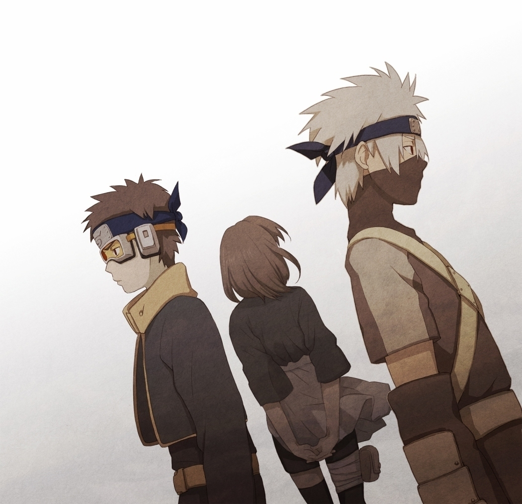 team yondaime images Kakashi Rin and Obito HD wallpaper and 1050x1012