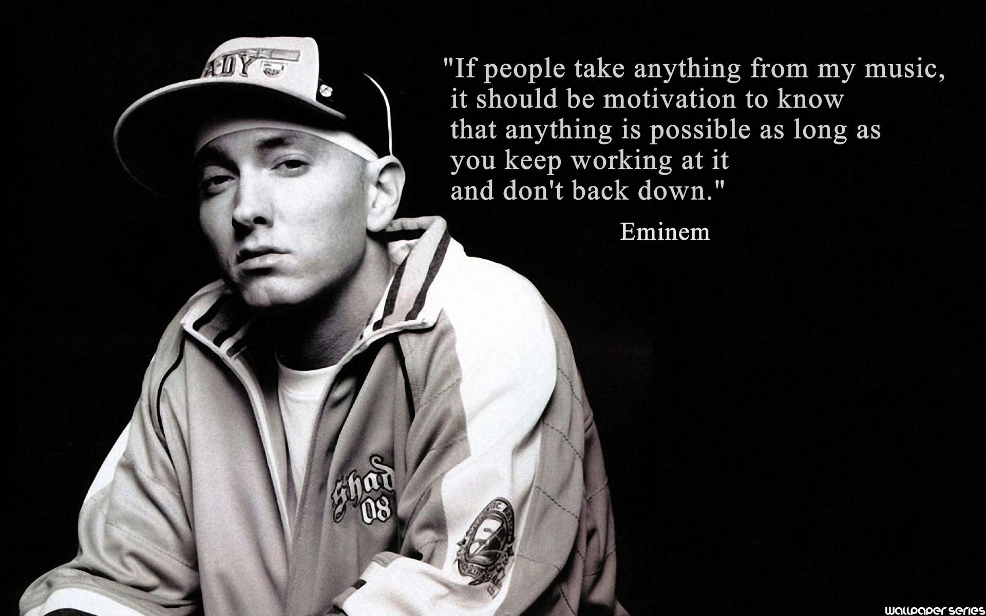 Eminem Quotes Wallpapers HD Backgrounds Images Pics Photos 1920x1200