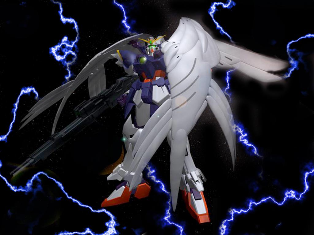 Mobile Suit Gundam Wing Wallpaper Lightning WZC   Minitokyo 1024x768