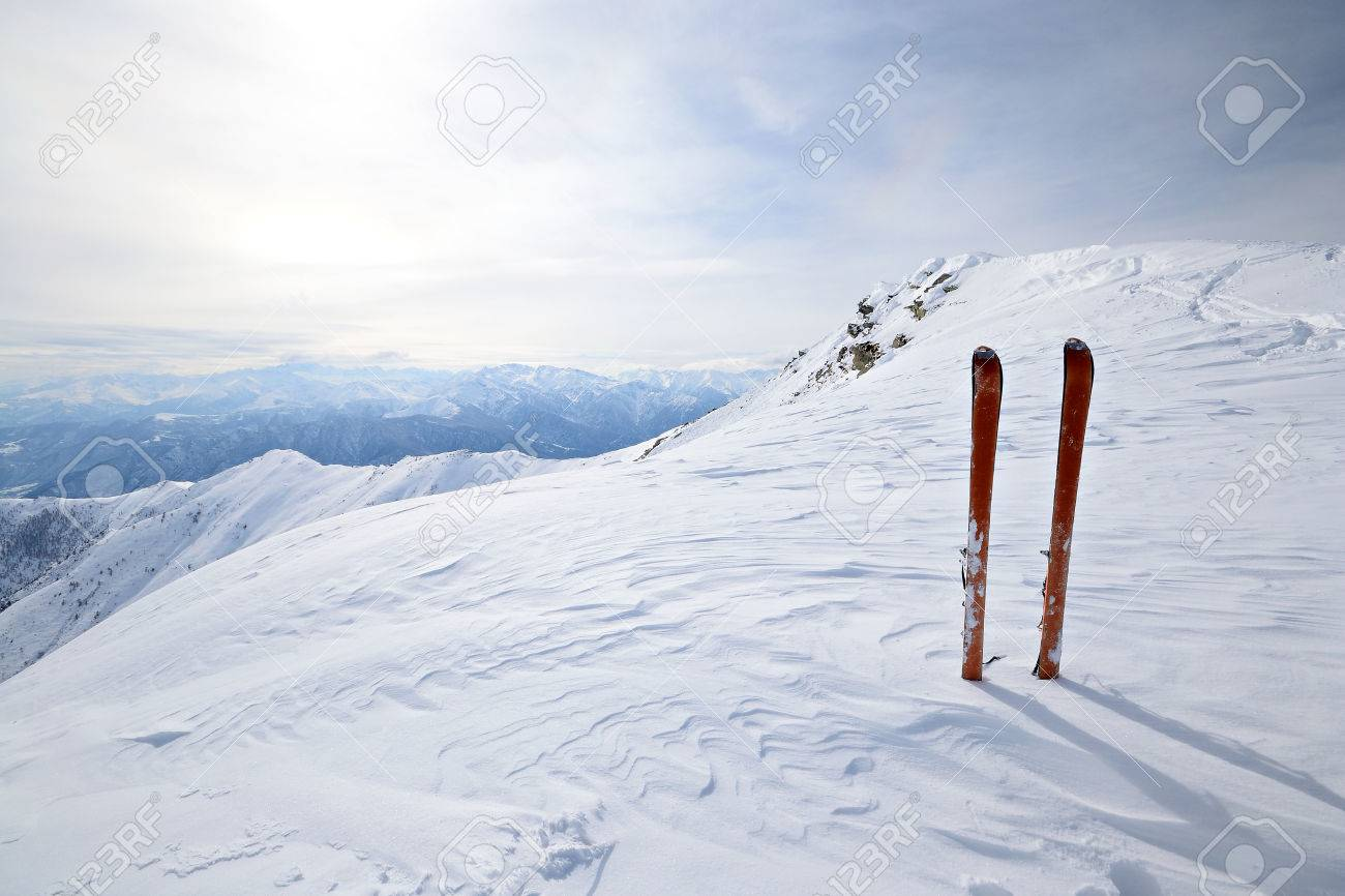 Back Country Ski In Scenic Alpine Backgrounds Stock Photo Picture 1300x866