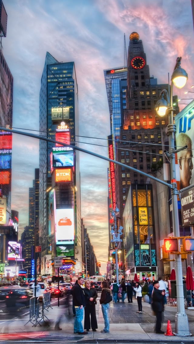Vintage City Iphone Wallpaper New York Travel 5s 640x1136