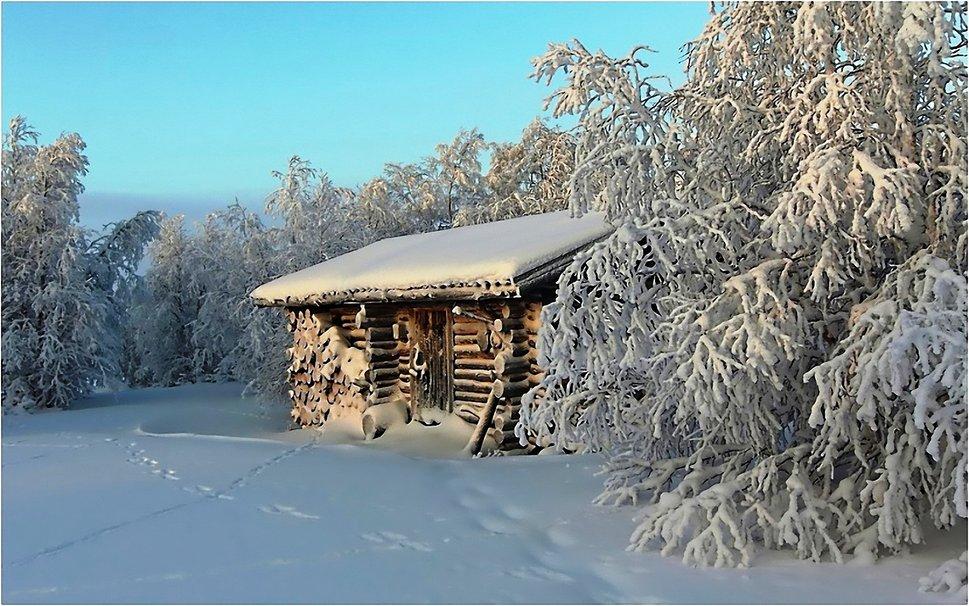 Log Cabin in Winter wallpaper   ForWallpapercom 969x606