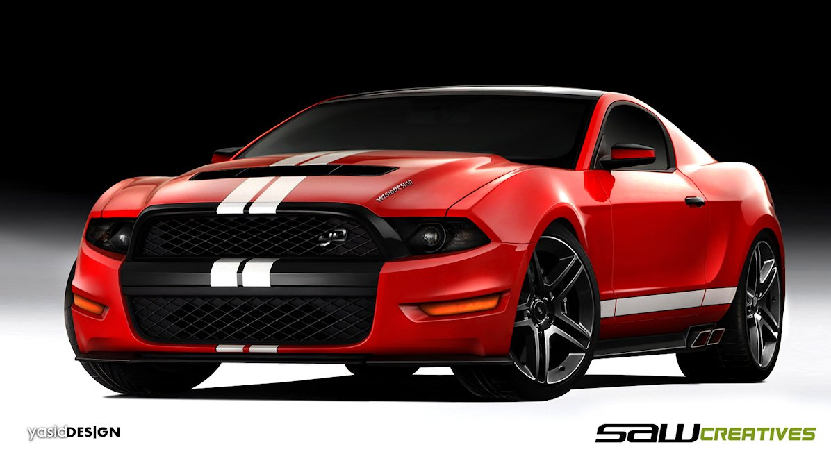 HD Wallpapers 2014 Ford Mustang Concept Car Design 1196x667