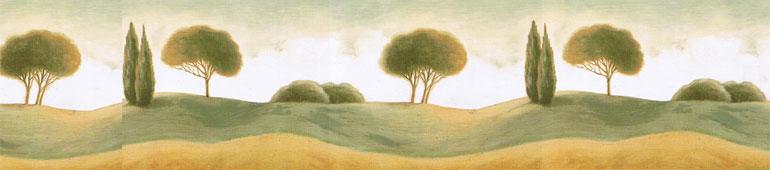 Details about Natures Spa Landscape Trees Wallpaper Border NS7706B 770x170
