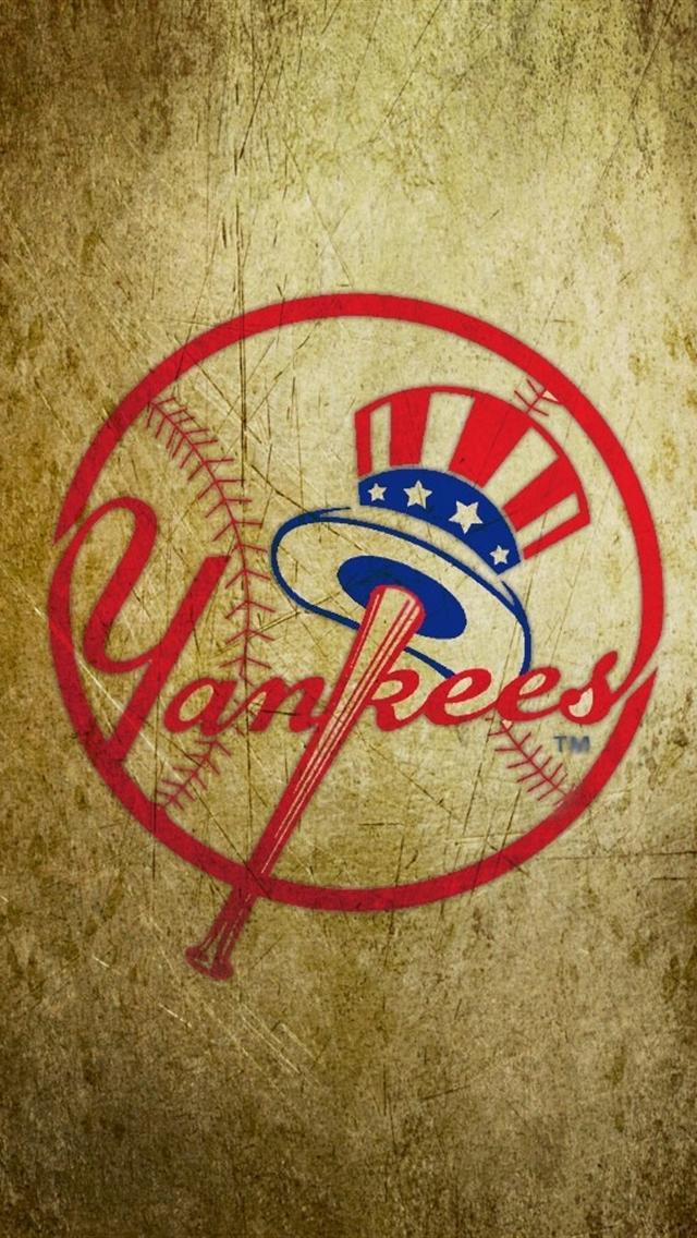 New York Yankees Logo iphone 5 wallpapers downloads 640x1136