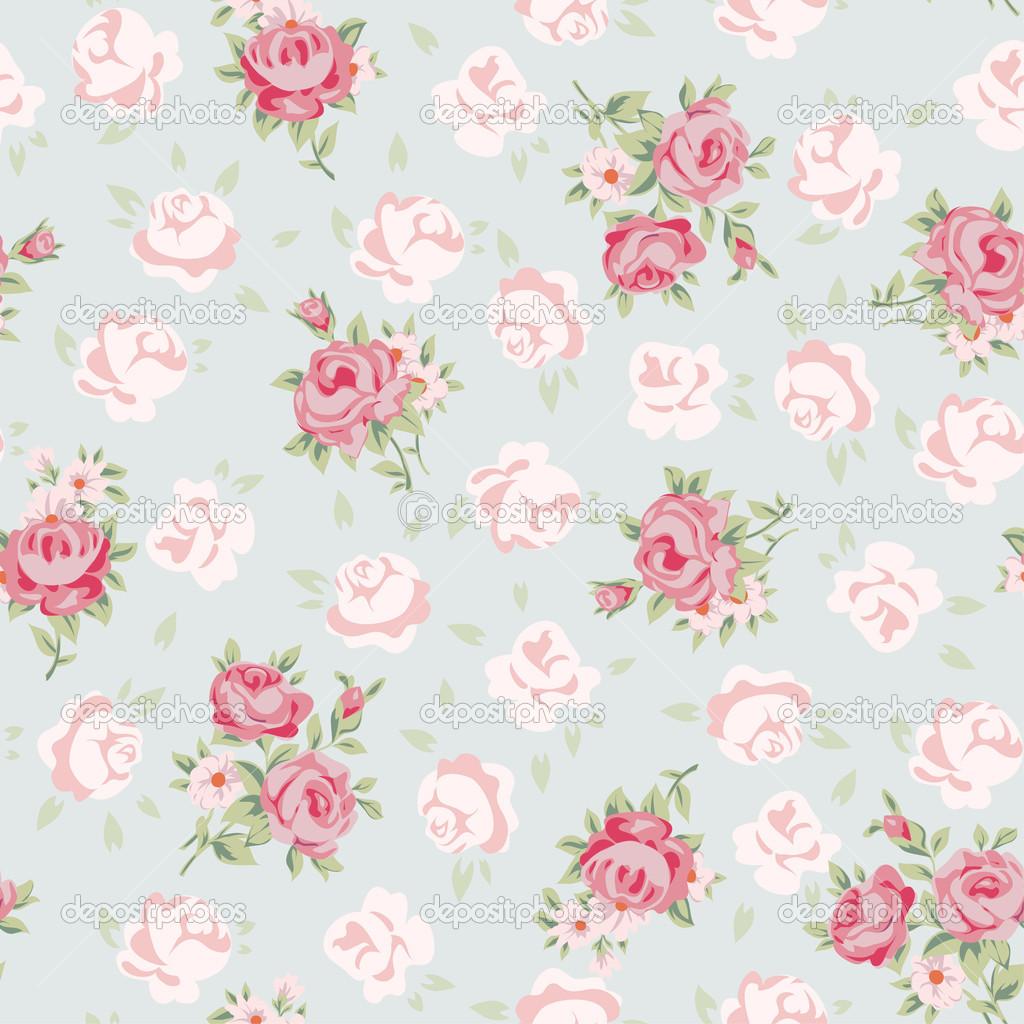 Vintage Rose Print Wallpaper Rose pattern stock 1024x1024