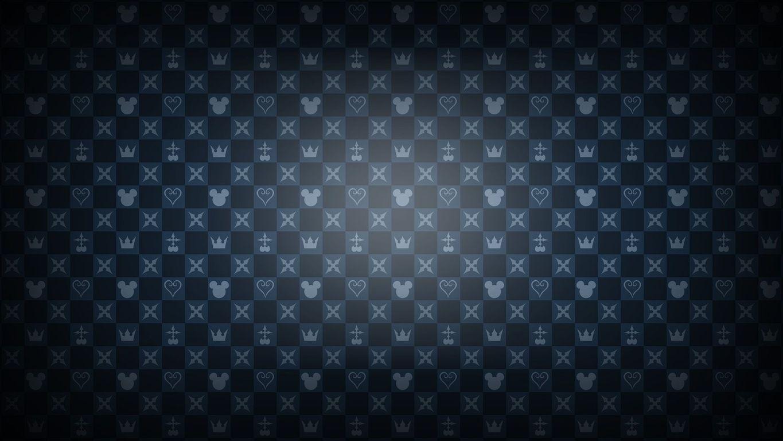 Kingdom Hearts pattern wallpaper 14547 1365x768
