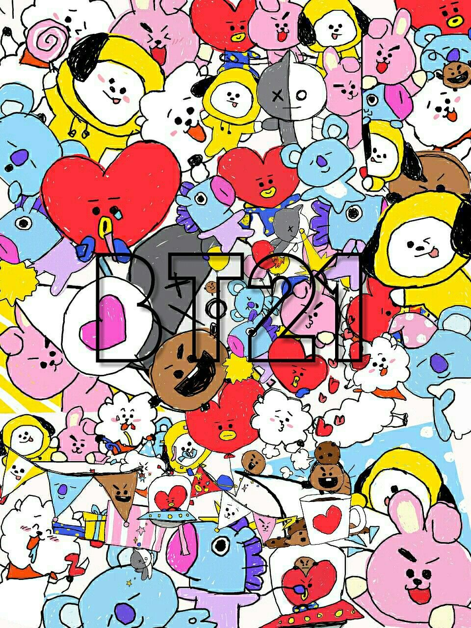 Bts BT21 wallpapers background BTS Pinterest BTS 960x1280